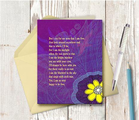 0284 Happy To Be Free Note Card