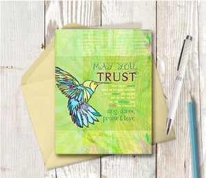 0285 May You Trust Note Card - deloresartcanada