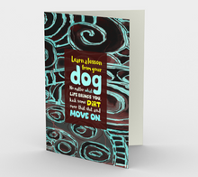 0566.Learn a Lesson from Your Dog  Card by DeloresArt - deloresartcanada