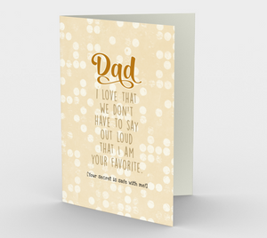 1249. Dad I'm Your Favourite  Card by DeloresArt