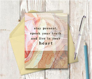 0293 Live In Your Heart Note Card