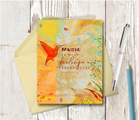 0294 Music Feelings Note Card