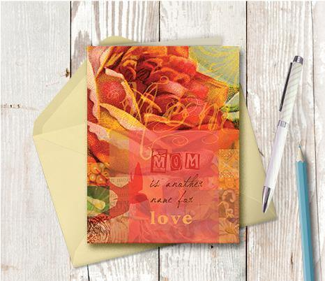 0296 Mom Is Another Word For Love Note Card