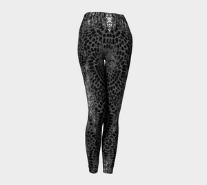 Earth Message Black Leggings by Deloresart