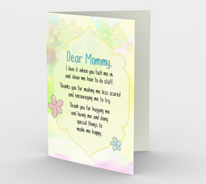 1130.Dear Mommy From Child  Card by DeloresArt