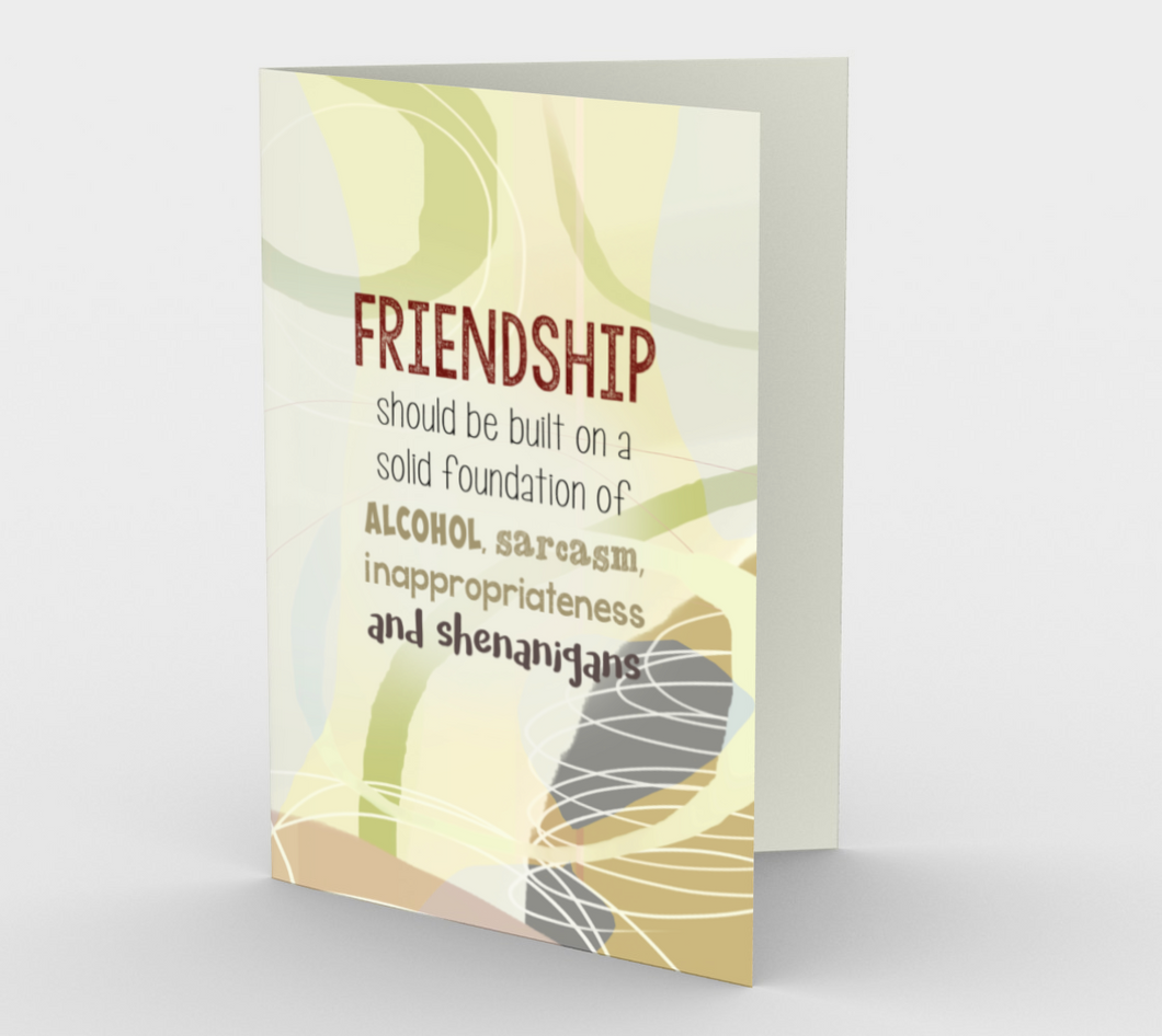 0810. Friendship - Shenanigans  Card by DeloresArt