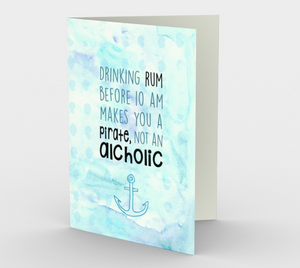 1274. Pirate, Not An Alcoholic  Card by DeloresArt