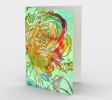 1235. Pearly Peony  Card by DeloresArt