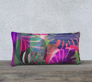 Careful Consideration Purples Lumbar Pillow by Deloresart
