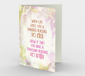 1271. Reasons To Smile Floral  Card by DeloresArt