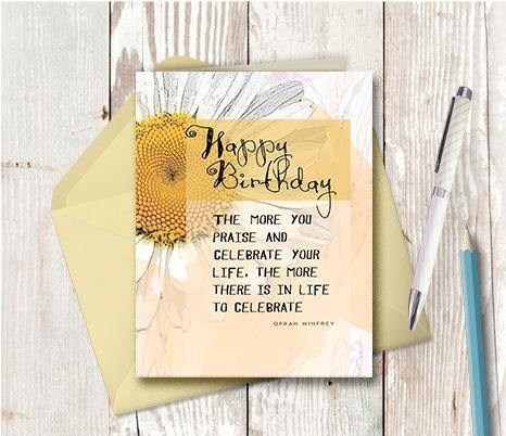 0301 Happy Birthday Praise And Celebrate Note Card