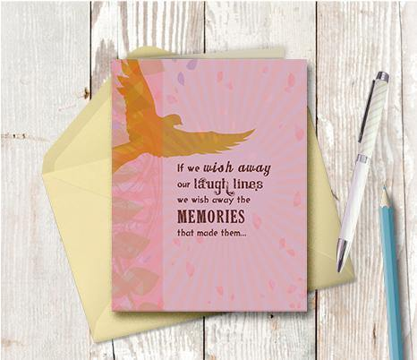 0303 Laugh Lines Memories Note Card