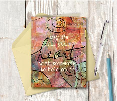 0305 May Life Fill Your Heart Note Card - deloresartcanada