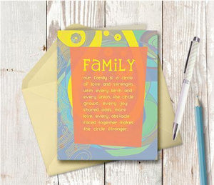 0307 Circle Family Note Card