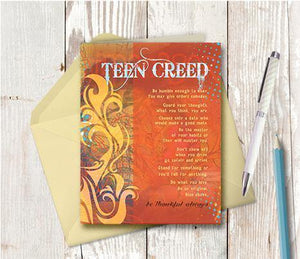 0308 Teen Creed Note Card - deloresartcanada