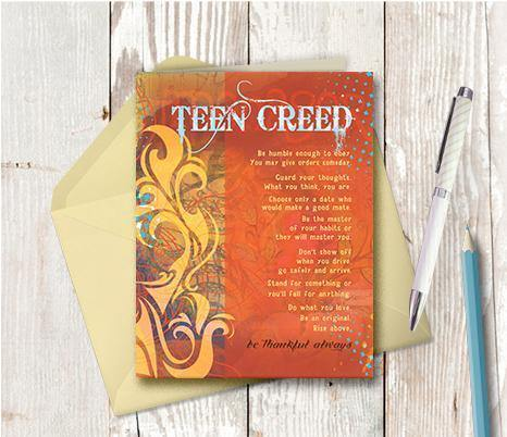 0308 Teen Creed Note Card
