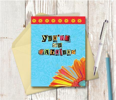 0309  You are So Fabulous Note Card