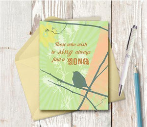 0312 Sing Note Card