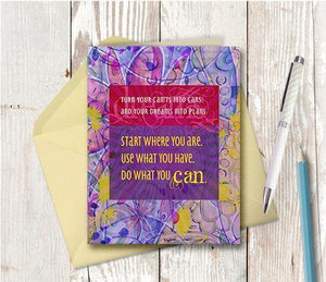0315 Start Where You Are Note Card