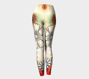 Flower Power Leggings by Deloresart
