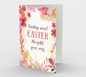 1168. Sending Sweet Easter Thoughts  Card by DeloresArt