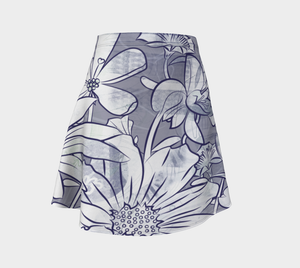 Flower Meadow Flare Skirt by Deloresart