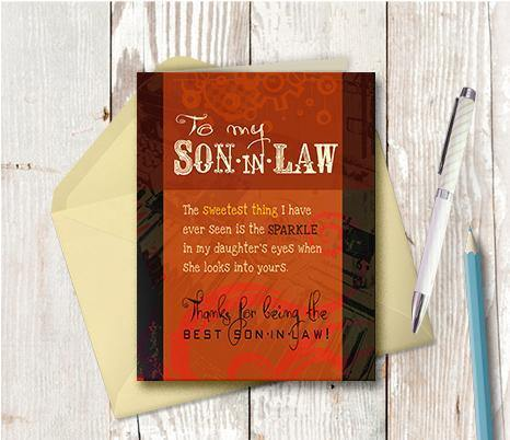 0335 Son In Law Note Card