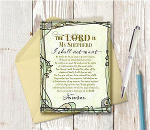 0336 The Lord Is My Shepherd Note Card