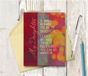 0337 Daughter Nothing You Can Do About It Note Card