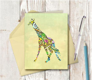 0340 Giraffe Baby Note Card