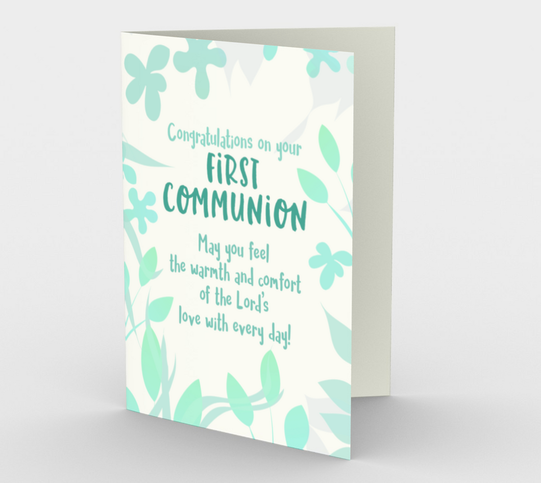 1298. First Communion/Lord's Love  Card by DeloresArt