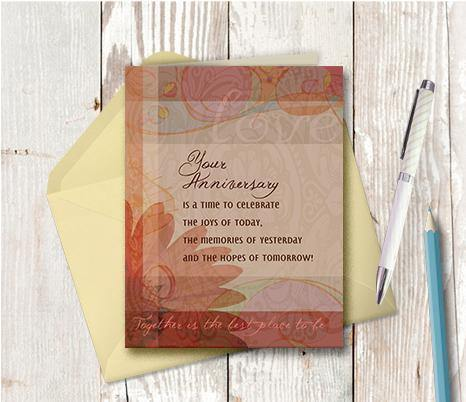 0346 Anniversary Together Best Place To Be Note Card