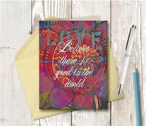0350 Good In The World Note Card