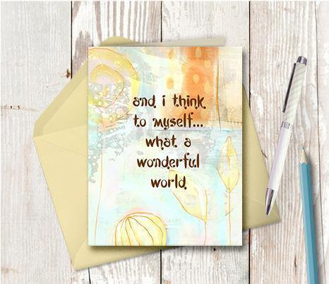 0352 Wonderful World Note Card