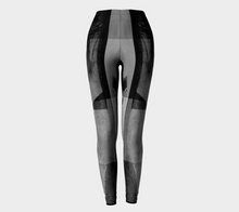 Squared Off Blacks Leggings by Deloresart
