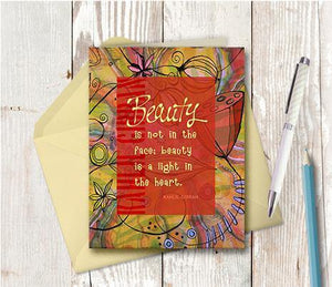 0365 Beauty Is In The Heart Note Card - deloresartcanada