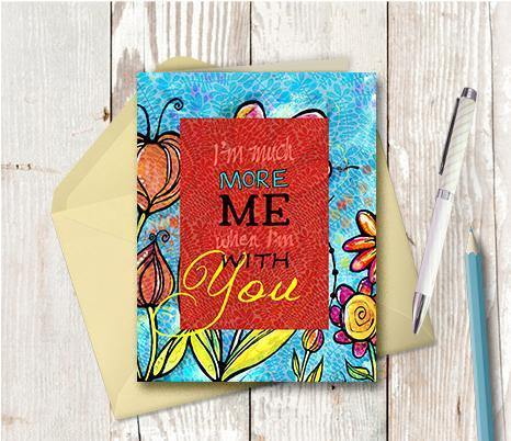 0368 Much More Me Note Card