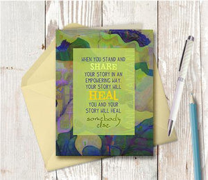 0369  Stand Share Heal Note Card
