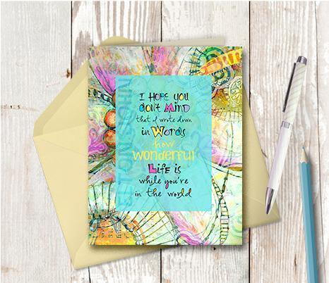 0370  Wonderful You are In The World Note Card