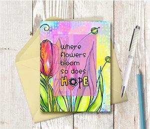 0372 Where Flowers Bloom Note Card