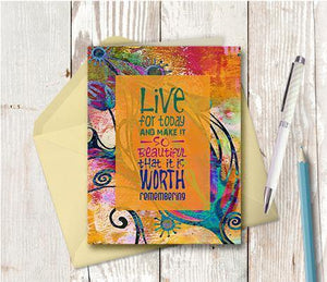 0374 Live For Today Note Card