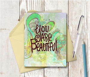 0375 You Are Beautiful Note Card