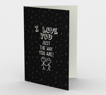1407 I Love You Just The Way You Are Card by Deloresart