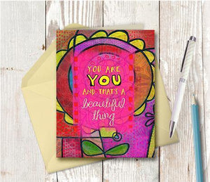 0378 You Are You Note Card