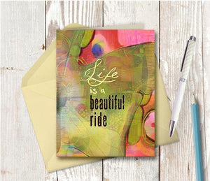 0384 Life Is A Beautiful Ride Note Card