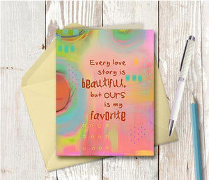 0385 Favourite Love Story Note Card