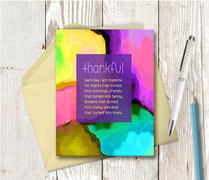 0393 Thankful Note Card