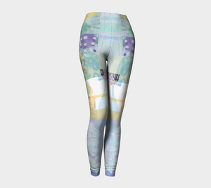 Kindred leaf Collage Leggings by Deloresart