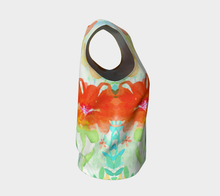 Coral Floral Loose Tank by Deloresart
