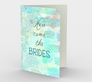 0800.Here Come the Brides  Card by DeloresArt